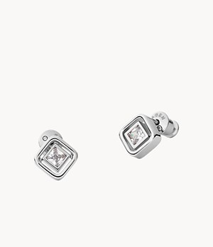 Elin Silver-Tone Stainless Steel Stud Earrings