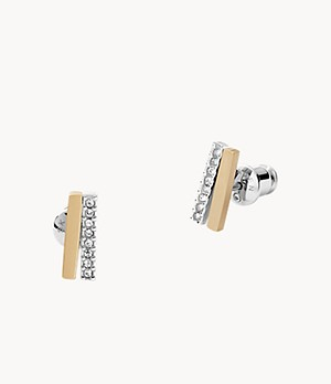 Elin Two-Tone Stainless Steel Stud Earrings