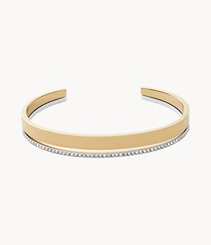 Elin Two-Tone Stainless Steel Cuff Bracelet