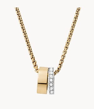Elin Two-Tone Stainless Steel Pendant Necklace