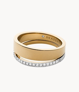 Elin Two-Tone Stainless Steel Band Ring