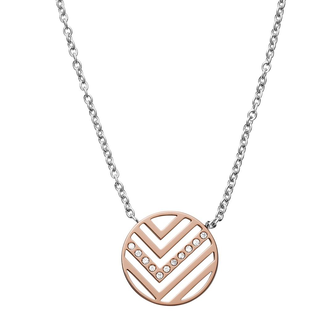 Elin Two-Tone Stainless Steel Necklace + Earring Box Set  - SKJB1001998