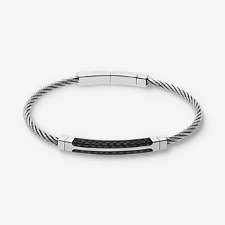 Olaf Steel Cable and Carbon Fiber Bracelet