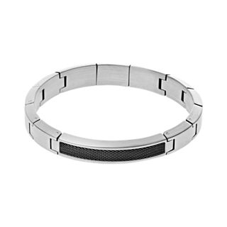 Kring Steel Link Bracelet with Ion-Plate Detailing