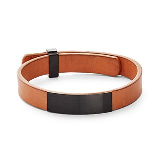 Vinther Leather and Steel Bracelet