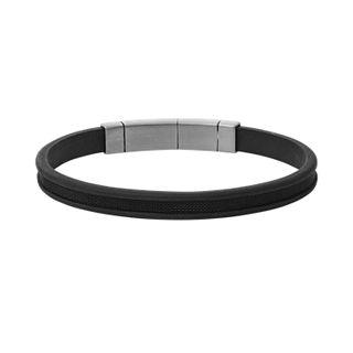 Kring Polyurethane and Steel Bracelet