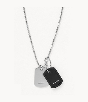 Kvarter Silver-Tone Stainless Steel and Aluminium Necklace