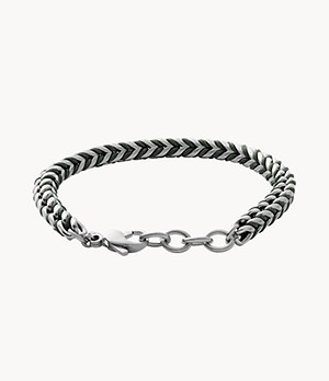 Torben Green Braided Nylon Chain Bracelet