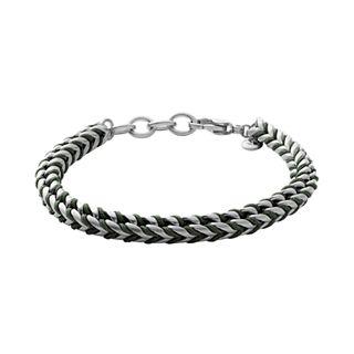 Torben Green Braided Nylon Chain Bracelet