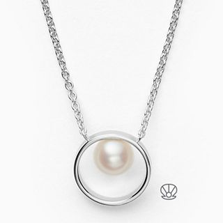 Agnethe Sterling Silver Genuine Cultured Pearl Necklace