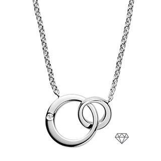 Elin Sterling Silver Genuine Diamond Necklace