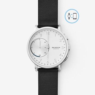 REFURBISHED Hagen Connected Leather Hybrid Smartwatch