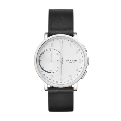 52c58ec9ea5 Hagen Connected Leather Hybrid Smartwatch - Skagen