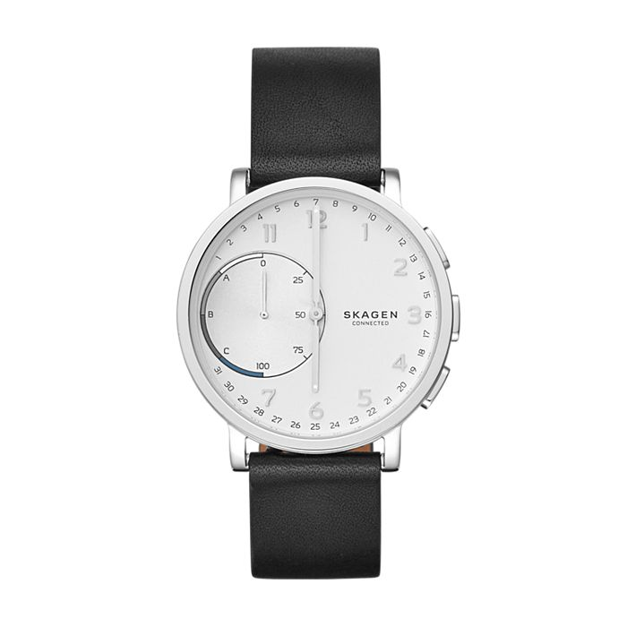Hybrid Smartwatch Leather Hagen Connected 7fYb6gy