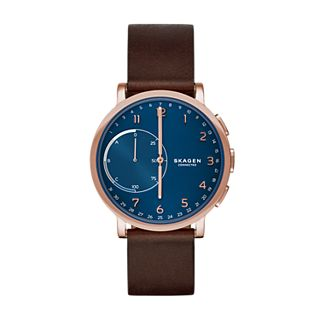 Hybrid Smartwatch - Hagen Dark Brown Leather