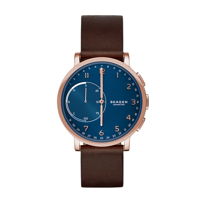 de6e6611e Hybrid Smartwatch - Hagen Dark Brown Leather - Skagen