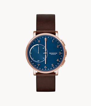 REFURBISHED Hybrid Smartwatch - Hagen Dark Brown Leather