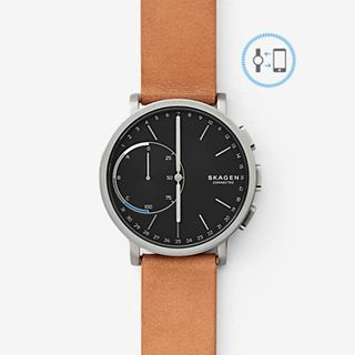 GENERALÜBERHOLT Hagen Connected Hybrid Smartwatch - Titan/Leder