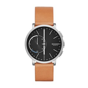 Hybrid Smartwatch - Hagen Titanium and Tan Leather