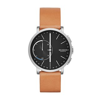 Hagen Connected Hybrid Smartwatch - Titan/Leder