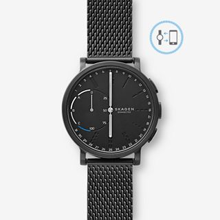 REFURBISHED Hybrid Smartwatch - Hagen Black Steel-Mesh