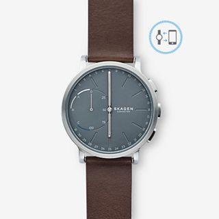 REFURBISHED Hybrid Smartwatch - Hagen Dark Brown Leather