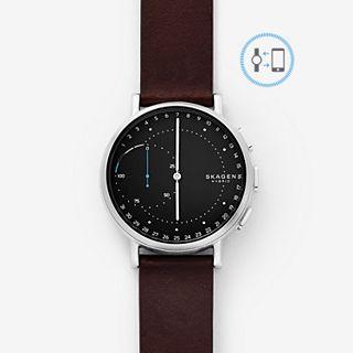 REFURBISHED Hybrid Smartwatch - Signatur Dark Brown Leather