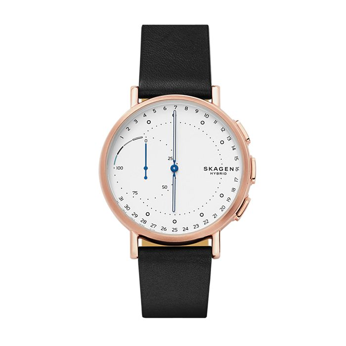 Hybrid Smartwatch Signatur Black Leather Skagen