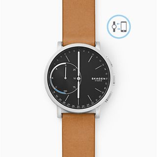 REFURBISHED Hagen Brown Leather Hybrid Smartwatch