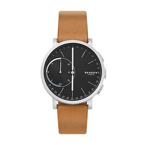 Hagen Brown Leather Hybrid Smartwatch