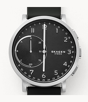 REFURBISHED Hybrid Smartwatch - Hagen Black Silicone