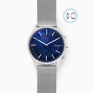 REFURBISHED Holst Silver-Tone Steel-Mesh Hybrid Smartwatch