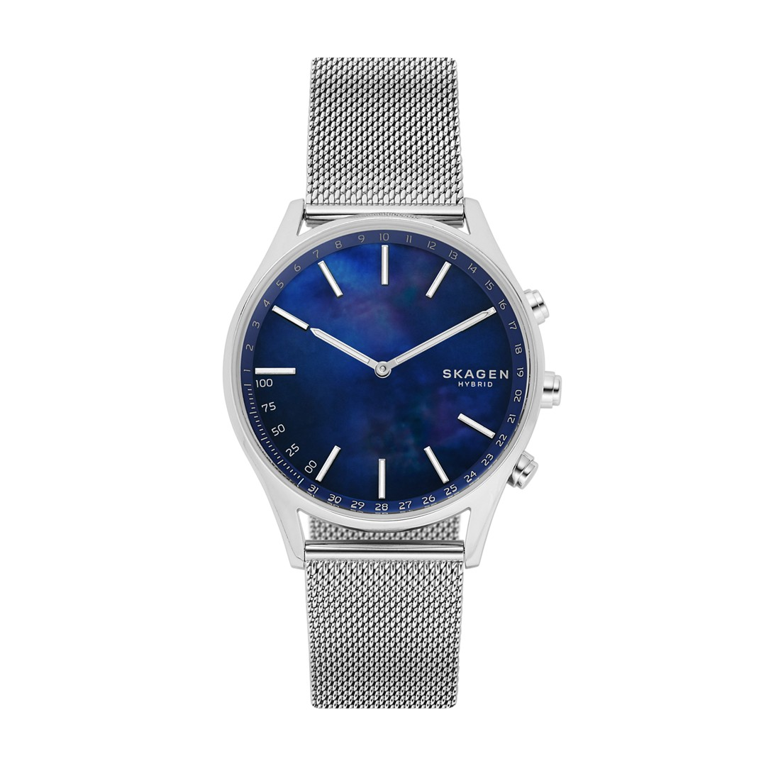 Holst Silver-Tone Steel-Mesh Hybrid Smartwatch  - SKT1313