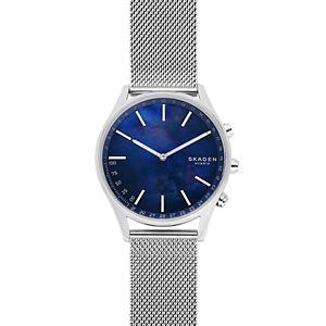 Holst Silver-Tone Steel-Mesh Hybrid Smartwatch