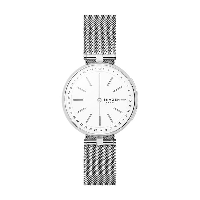 f7f53f98e Hybrid Smartwatch - Signatur T-Bar Steel-Mesh - Women - Skagen