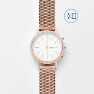 REFURBISHED Hybrid Smartwatch - Mini Hald Rose Gold-Tone Steel-Mesh