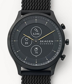 Hybrid Smartwatch HR - Jorn 42mm Black Silicone