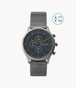 Hybrid Smartwatch HR - Jorn 42mm Grey Steel-Mesh