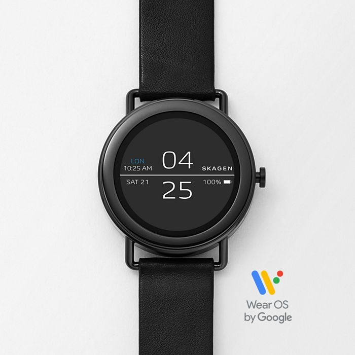 Smartwatch Falster 1 Black Leather Skagen