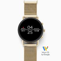 Deals on Skagen Falster 2 Gold-Tone Mesh Smartwatch