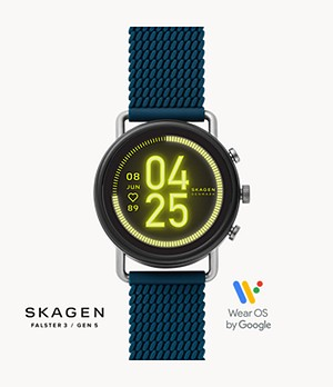 Smartwatch HR - Falster 3 Blue Silicone Mesh