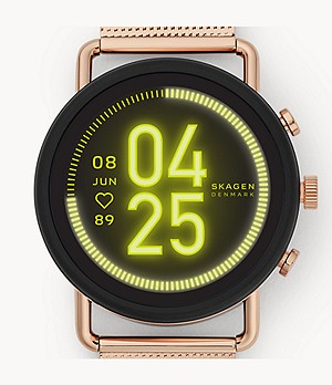 Smartwatch HR - Falster 3 Rose-Tone Steel-Mesh