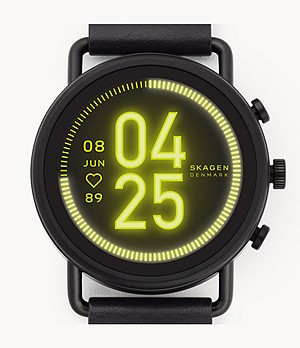 Smartwatch HR - Falster 3 Black Leather