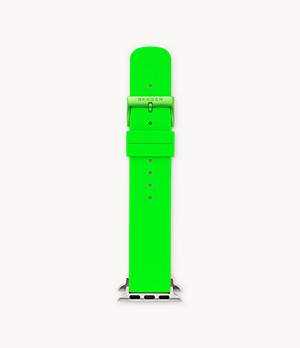 Neon Green Silicone Bands for Apple Watches 38mm and 40mm
