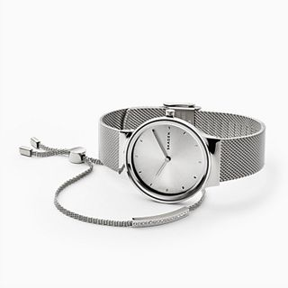 Freja Steel-Mesh Watch + Merete Bracelet Box Set