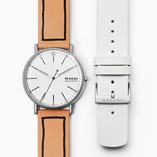 Signatur Sketchables Leather Watch Set
