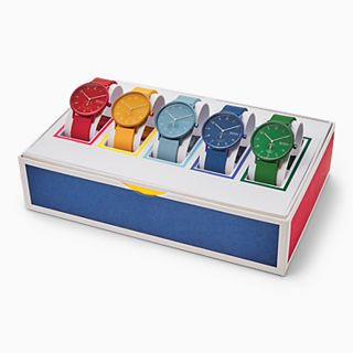 Aaren Kulor Three-Hand Multi-Colored Silicone 41mm Collector's Box Set