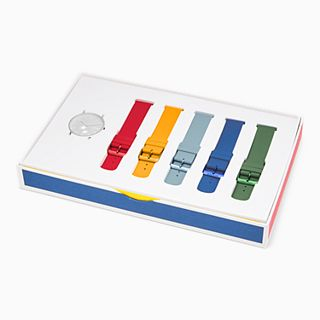Aaren Kulor Three-Hand Multi-Colored Silicone 41mm Watch Strap Set