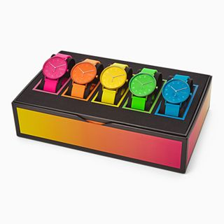 Aaren Kulor Three-Hand Neon Silicone 41mm Collector's Box Set