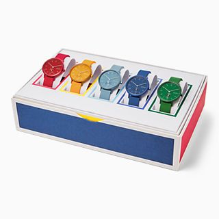 Aaren Kulor Three-Hand Multi-Coloured Silicone 36mm Collector's Box Set